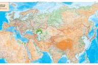 """Карта """"Россия и прилегающие государства географическая"""" (art. Ros_2_zak)"""
