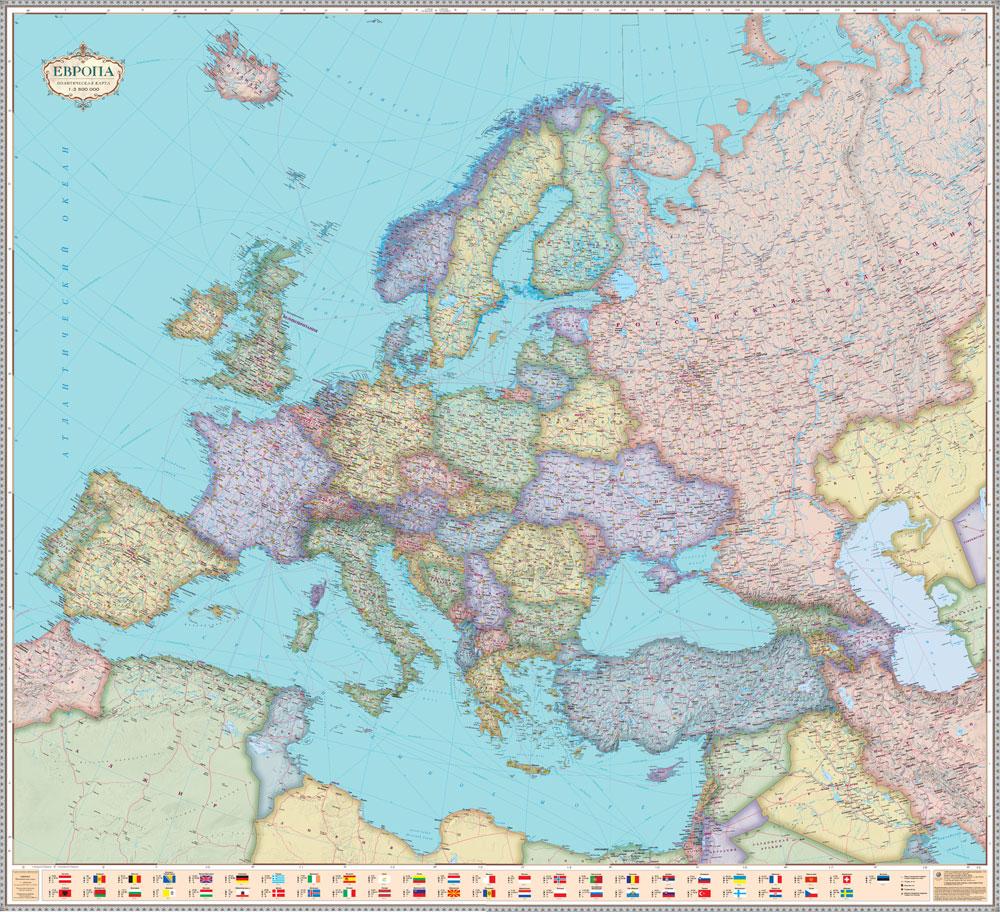Karty Evropy Internet Magazin Nastennyh Kart
