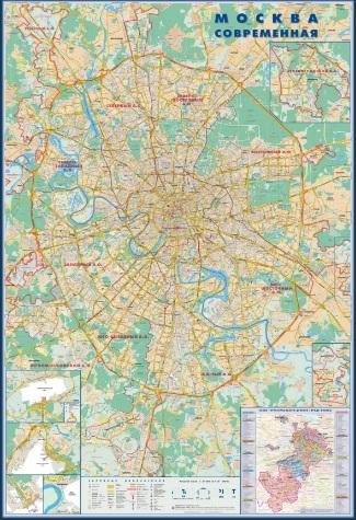 Карты Москвы и Московской области (карта)